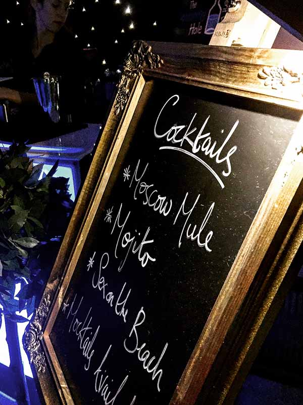 35. Cocktail Sign