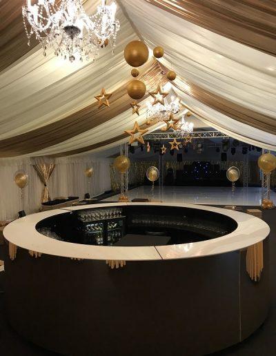 Gold Mirrored Bar